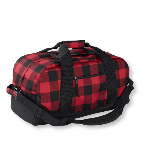 155533 Adventure Duffle red buffalo plaid