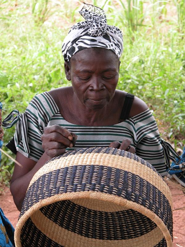 Basket Weaving Ghana : Fair trade baskets from africa