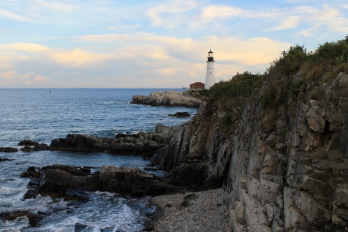 One of many beautiful views of the Portland Headlight.