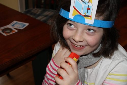 CP#1 loves the Q+A game Hedbanz.