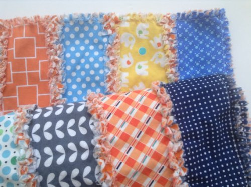 MP loves the colors in this fun rag quilt.