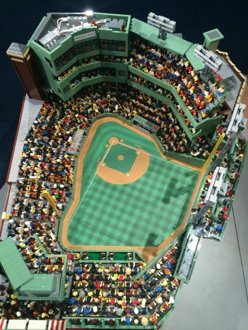 Fenway Park -  made entirely of LEGOs.