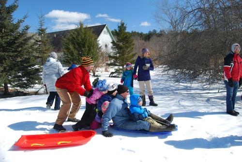 Winter Kids Outside